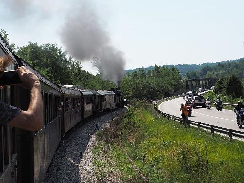 Il treno storico lungo la tratta ferroviaria Sacile – Gemona del Friuli – 29/07/2018