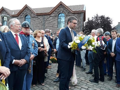 Pierpaolo Roberti (Assessore regionale Autonomie locali, Sicurezza e Politiche comunitarie) alla cerimonia di commemorazione dei morti di Marcinelle