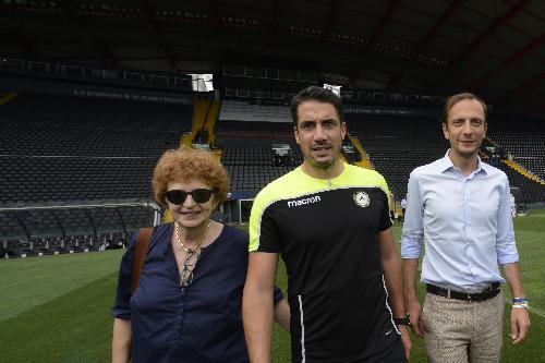 Massimiliano Fedriga (Governatore Regione Friuli Venezia Giulia) e Tiziana Gibelli (Assessore regionale Cultura e Sport) incontrano giocatori e dirigenti dell'Udinese Calcio - Udine 10/08/2018