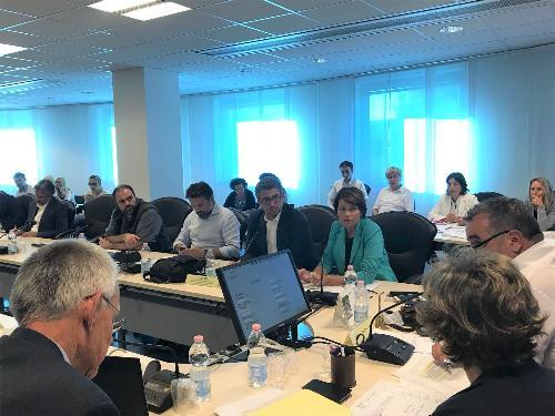 L'assessore alle Autonomie locali del Friuli Venezia Giulia, Pierpaolo Roberti, in un momento della seduta del Consiglio delle autonomie locali (CAL) - Udine, 27/08/2018