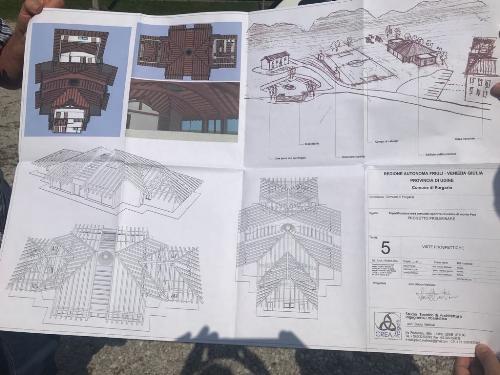 Il progetto del nuovo centro polifunzionale con annessa area attrezzata che sorgerà sull'altopiano del Monte Prat a Forgaria nel Friuli
