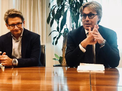 L'assessore Bini con il presidente dell'Autorità di Sistema portuale del mare Adriatico Orientale Zeno D'Agostino