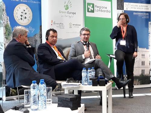 L'assessore regionale Autonomie locali e Politiche comunitarie Pierpaolo Roberti, interviene alla Settimana europea delle Regioni e delle Città, a Bruxelles