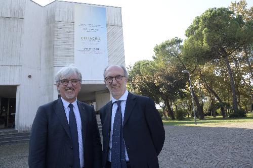 il vicegovernatore Riccardi con il presidente della Fondazione Enpam Alberto Oliveti