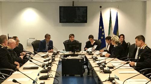 La riunione del Comitato tecnico regionale per la Polizia locale, al quale ha partecipato l'assessore regionale alla Sicurezza, Pierpaolo Roberti.