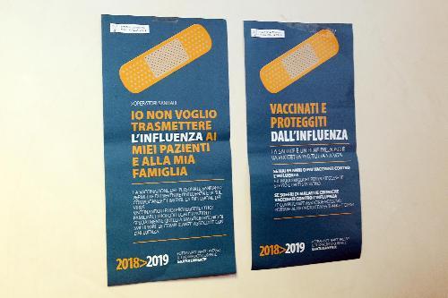 Le locandine della campagna per la vaccinazione antinfluenzale 2018