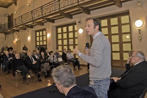 Il governatore Fedriga durante il suo intervento alla presentazione della scuola di formazione politica Ettore Romoli