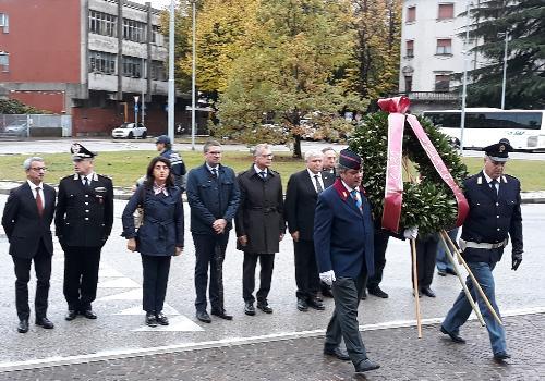 L'assessore regionale alla Sicurezza Pierpaolo Roberti, alla cerimonia del ventesimo anniversario della cosiddetta Strage di Natale, organizzata a Udine dalla Polizia di Stato a Udine