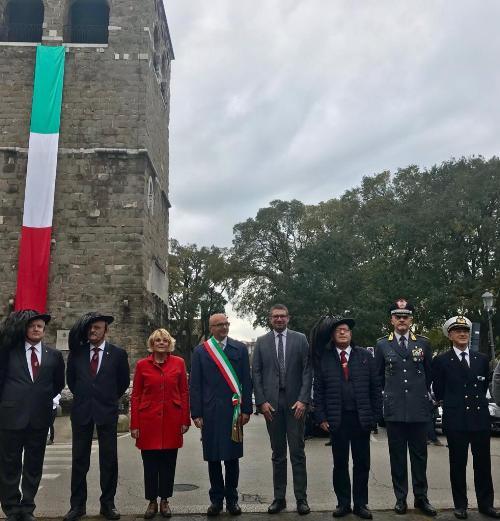 L'assessore regionale alla Sicurezza, Pierpaolo Roberti, alla cerimonia commemorativa del centesimo anniversario dello sbarco dei bersaglieri a Trieste