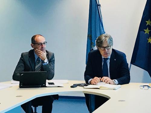 Incontro dell'assessore alle Attività produttive del Fvg, Sergio Emidio Bini, con il coordinamento dei Consorzi di sviluppo economico locale
