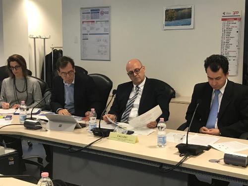 L'assessore alla Funzione pubblica del Friuli Venezia Giulia, Sebastiano Callari, durante la seduta del Consiglio delle Autonomie locali - Udine, 27 novembre