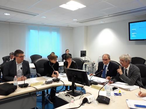 L'assessore alle Autonomie locali del Friuli Venezia Giulia, Pierpaolo Roberti, durante la seduta del Cal - Udine, 27 novembre