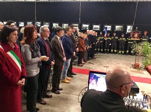 La celebrazione di Santa Barbara svoltasi a Trieste nella sede dei Vigili del fuoco alla quale è intervenuto l'assessore regionale alla Sicurezza, Pierpaolo Roberti.