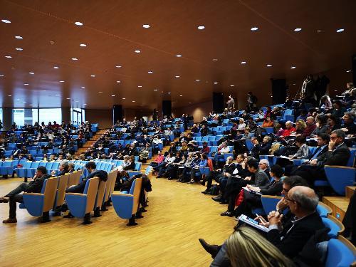 La platea di medici e operartori intervenuta alla Giornata regionale della sicurezza e qualità delle cure - Udine, 13 dicembre