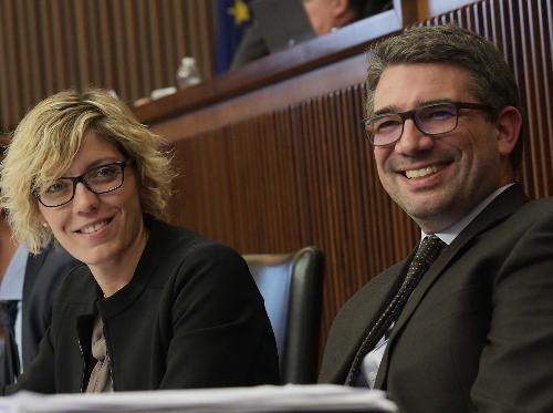 Gli assessori regionali Barbara Zilli, Finanze e Patrimonio e Pierpaolo Roberti, Autonomie locali