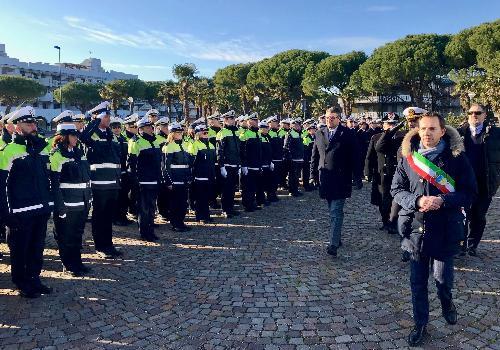 L'assessore regionale alle Autonomie locali e Sicurezza Pierpaolo Roberti alla decima Giornata regionale della Polizia locale a Lignano Sabbiadoro