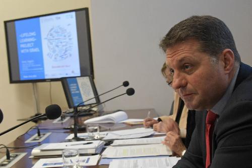 Haim Bibas, sindaco di Modi'in e presidente dell'Unione delle municipalità di Israele.