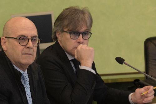 L'assessore Sebastiano Callari durante la seduta di Giunta nella quale è stato approvato il Piano dei fabbisogni 2019-21.