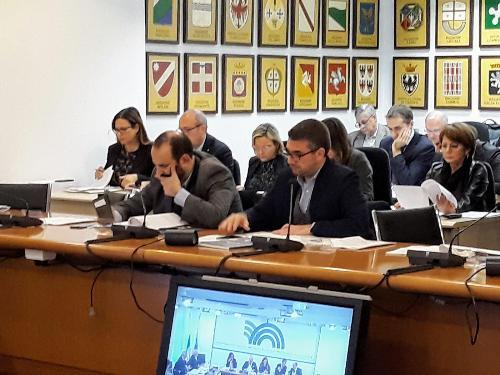 L'assessore Roberti durante la Conferenza Stato-Regioni.