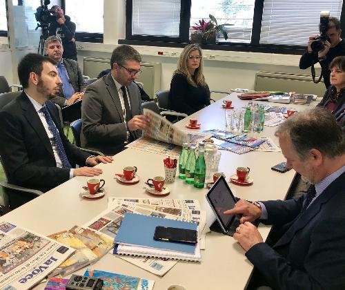 L'assessore regionale alle Autonomie locali e corregionali all'estero Pierpaolo Roberti visita la casa editrice Edit di Fiume-Rijeka, organizzata dall'Unione Italiana