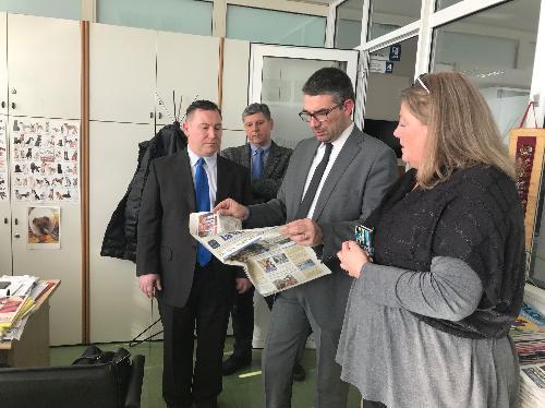 L'assessore regionale alle Autonomie locali e corregionali all'estero Pierpaolo Roberti visita la casa editrice Edit di Fiume-Rijeka