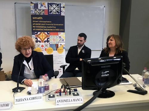 L'assessore regionale alla cultura Tiziana Gibelli al Consorzio Universitario per la cerimonia di avvio dell'8/a Edizione della settimana del design a Pordenone.