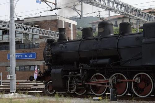 La locomotiva del treno storico