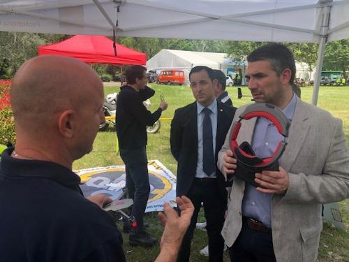 L'assessore Roberti al Villaggio sicurezza a Villanova di San Daniele del Friuli