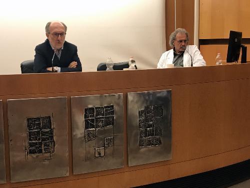 L'intervento del vicegovernatore della Regione Riccardo Rocardi nel corso dell'incontro con il Collegio dei primari del Santa Maria della Misericordia