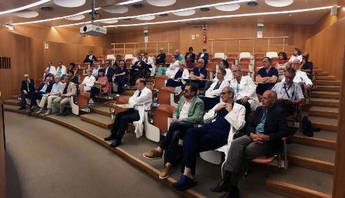 La platea dei rappresentanti del collegio dei primari presenti all'incontro svoltosi a Udine