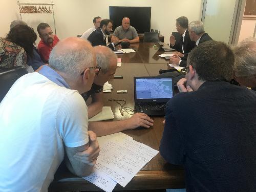 Riunione del primo tavolo sull'interconnessione dei sistemi di videosorveglianza e sale operative, presieduto dall'assessore alle Autonomie locali e sicurezza, Pierpaolo Roberti - Udine, 19 giugno 2019
