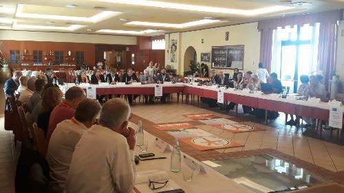 L'incontro ad Aquileia con l'assessore al Turismo del Friuli Venezia Giulia, Sergio Emidio Bini, sul progetto 'Romea Strata'.