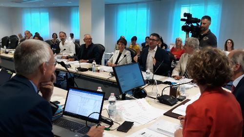 L'assessore regionale Pierpaolo Roberti interviene al Consiglio delle autonomie locali