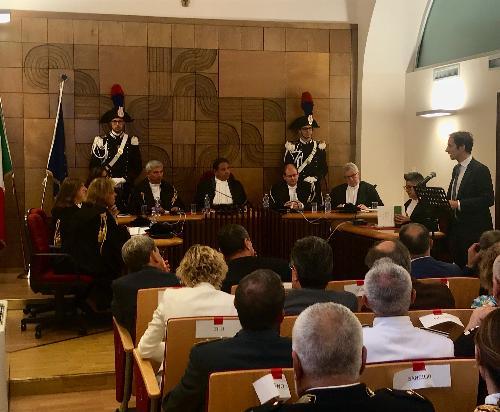 Intervento del governatore del Friuli Venezia Giulia Massimiliano Fedriga a margine dell'illustrazione del Giudizio di parificazione del Rendiconto generale della Regione per l'esercizio 2018 da parte della sezione regionale di controllo della Corte dei Conti