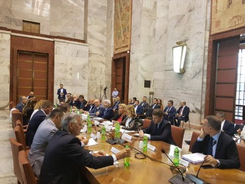 La riunione del Comitato per la Banda Ultra Larga (CoBUL) nella sede del ministero per lo Sviluppo economico - Roma, 17 luglio 2019.