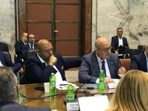 L'assessore regionale alla Funzione pubblica, Sebastiano Callari, durante la riunione del Comitato per la Banda Ultra Larga (CoBUL) - Roma, 17 luglio 2019