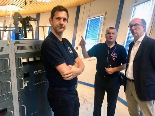 La visita del vicegovernatore Riccardo Riccardi alla sala comandi del radar di Fossalon