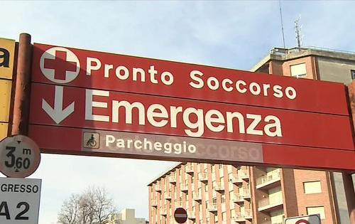 L'ingresso del Pronto Soccorso dell'Ospedale Santa Maria della Misericordia - Udine in una foto d'archivio