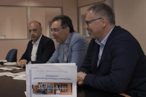 L'assessore regionale a Infrastrutture e territorio, Graziano Pizzimenti, e il consigliere regionale Mauro Bordin.