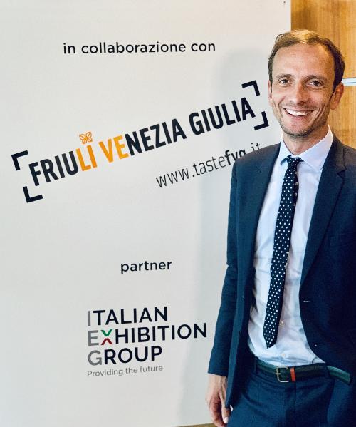Il governatore Massimiliano Fedriga, al 40° Meeting di Rimini.