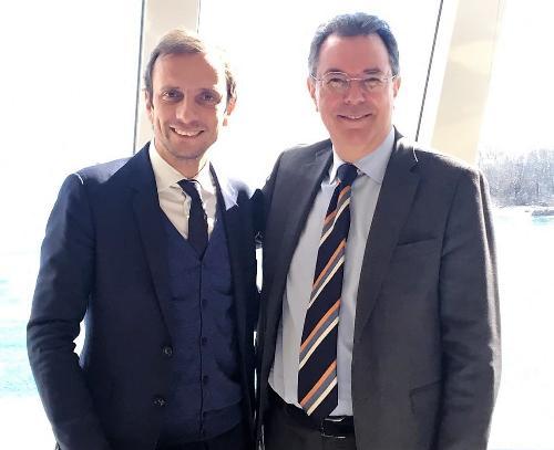 Il governatore del FVG Massimiliano Fedriga e l'assessore regionale ai Trasporti Graziano Pizzimenti