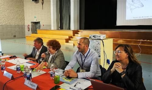 L'assessore allo Sport del Friuli Venezia Giulia, Tiziana Gibelli, nella prima delle due giornate dedicate a Focusport Fvg 2019.