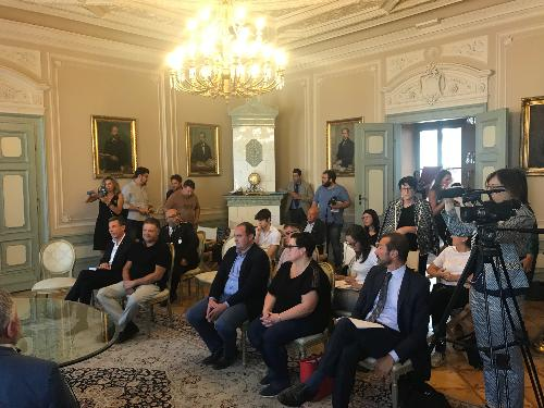Un momento della conferenza stampa di presentazione di Salotto del Gusto - Gorizia, 16 settembre 2019