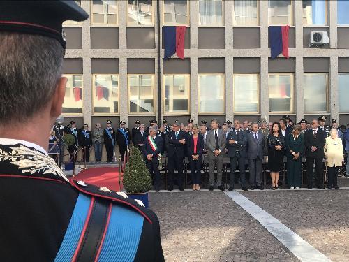 La cerimonia di avvicendamento al vertice del comando della Legione Carabinieri del Friuli Venezia Giulia a cui ha preso parte l'assessore regionale alle Finanze, Barbara Zilli, assieme all'assessore alle Attività produttive, Sergio Emidio Bini, e al presidente del Consiglio regionale, Piero Mauro Zanin - Udine, 19 settembre.