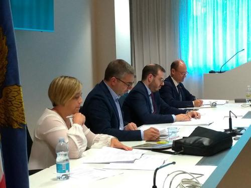 L'assessore regionale alle Lingue minoritarie, Pierpaolo Roberti, ha incontrato la Commissione regionale per la minoranza di lingua tedesca e quella per la minoranza di lingua slovena - Udine, 3 ottobre 2019.