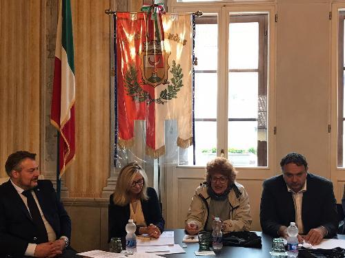 L'assessore alla Cultura del Friuli Venezia Giulia, Tiziana Gibelli, in occasione della conferenza stampa di presentazione della 22. edizione di Jazz&Wine of peace 2019 festival.