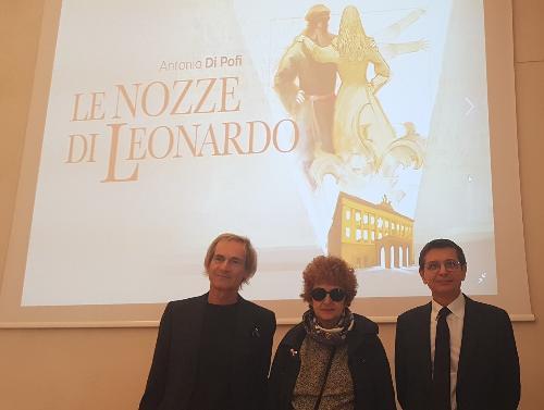 Da sinistra il direttore artistico del Verdi Paolo Rodda, l'assessore Gibelli e il sovrintendente del Verdi Stefano Pace