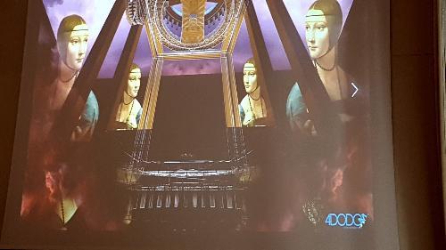Lo spettacolo Le nozze di Leonardo si avvale delle scene e scenografia virtuale di Federico Cautero per 4DODO