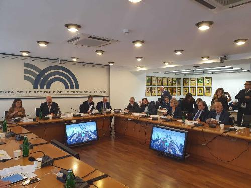 Un momento della Conferenza delle Regioni e Province autonome, alla quale ha partecipato l'assessore regionale alle Finanze, Barbara Zilli.