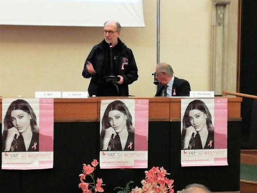 Il vicegovernatore Riccardo Riccardi interviene al convegno della Lilt in sala Ajace a Udine
